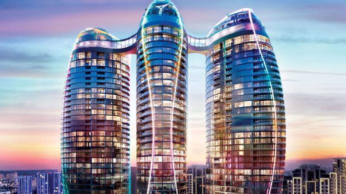 В Киеве горела башня 35-этажного Taryan Towers