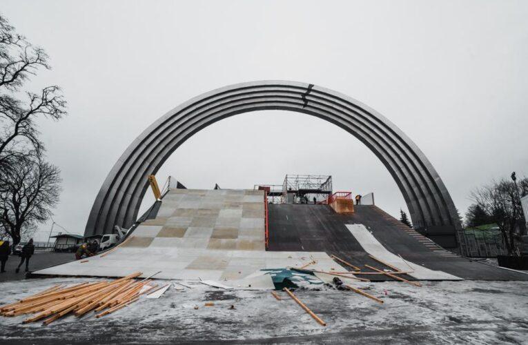 У центрі Києва відбудуться зимові міжнародні змагання сноубордистів і лижників